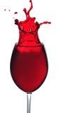 Vidrio de vino rojo Fotos de archivo