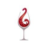 Vidrio de vino rojo ilustración del vector