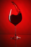 Vidrio de vino rojo Foto de archivo libre de regalías