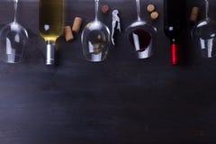 Vidrio de vino rojo Imagen de archivo libre de regalías