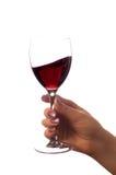 Vidrio de vino rojo (aislado en blanco) Imagen de archivo libre de regalías