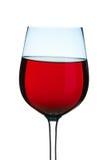 Vidrio de vino rojo chispeante Fotos de archivo libres de regalías