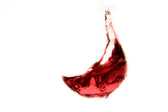 Vidrio de vino rojo en fondo oscuro Foto de archivo