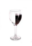 Vidrio de vino semilleno   Foto de archivo libre de regalías
