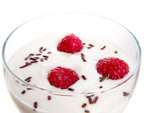 Vidrio de yogur Imagen de archivo