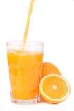Vidrio de zumo de naranja Foto de archivo libre de regalías