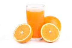 Vidrio de zumo de naranja Fotos de archivo