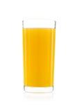 Vidrio de zumo de naranja aislado Fotos de archivo