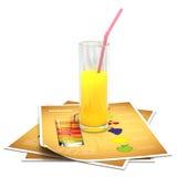 Vidrio de zumo de naranja fresco Imagenes de archivo