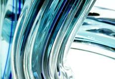 Vidrio del aqua que fluye Foto de archivo libre de regalías