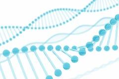 Vidrio del azul de la DNA Fotos de archivo libres de regalías