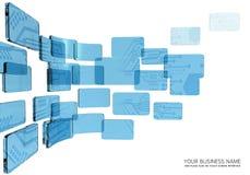 Vidrio del azul del interfaz del circuito Ilustración del Vector
