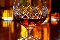 Vidrio del brandy A Foto de archivo