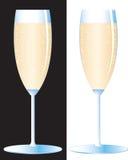 Vidrio del champán Ilustración del Vector