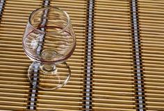 Vidrio del coñac imagen de archivo