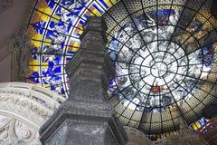Vidrio del estado de la bóveda. Foto de archivo