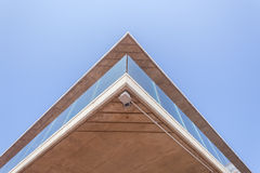 Vidrio del hormigón de la sección del pórtico del edificio Foto de archivo