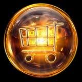 Vidrio del icono del carro de compras Imagen de archivo libre de regalías