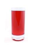 Vidrio del jugo o del coctel rojo foto de archivo