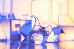 Vidrio del laboratorio Foto de archivo libre de regalías