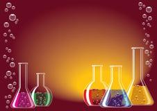 Vidrio del laboratorio ilustración del vector