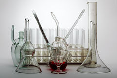 Vidrio del laboratorio Imágenes de archivo libres de regalías