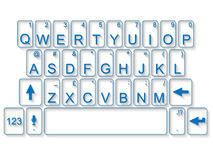 Vidrio del mac de la PC del teclado con la sombra Fotos de archivo