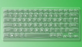 Vidrio del mac de la PC del teclado con la sombra Imagen de archivo