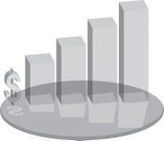 Vidrio del plinth de las ventas ilustración del vector