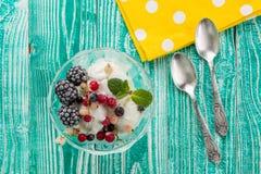 Vidrio del sorbete con helado Fotografía de archivo
