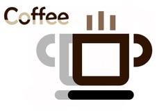 Vidrio del vector de café ilustración del vector