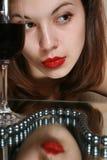 Vidrio del vino y de la juventud. Imágenes de archivo libres de regalías