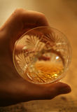 Vidrio del whisky Fotografía de archivo