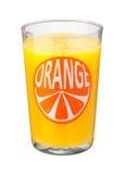 Vidrio del zumo de naranja aislado Fotografía de archivo libre de regalías