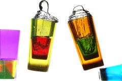 vidrio en agua Imágenes de archivo libres de regalías