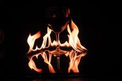 Vidrio en el fuego Foto de archivo