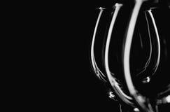 Vidrio en fondo negro Fotografía de archivo