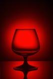 Vidrio en luz roja Imágenes de archivo libres de regalías