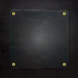 Vidrio en negro Imagenes de archivo