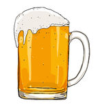 Vidrio escarchado de la pintura de la cerveza ligera ilustración del vector