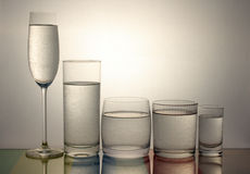 Vidrio fresco de agua Foto de archivo libre de regalías