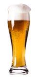 Vidrio lleno de cerveza Foto de archivo