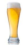 Vidrio lleno de cerveza Fotos de archivo