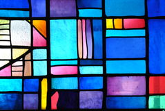 Vidrio manchado Foto de archivo libre de regalías