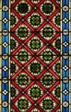 Vidrio manchado, catedral de Zagreb foto de archivo libre de regalías