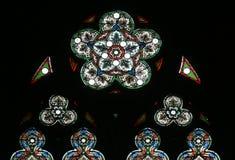 Vidrio manchado, catedral de Zagreb fotografía de archivo libre de regalías