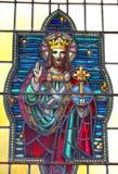 Vidrio manchado Cristo Foto de archivo libre de regalías