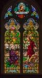 Vidrio manchado de la iglesia de San Pedro en Gramado Imagen de archivo libre de regalías