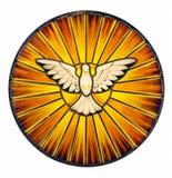 Vidrio manchado del Espíritu Santo Fotografía de archivo libre de regalías