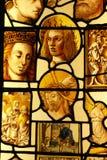 Vidrio manchado en College Chapel de rey Foto de archivo